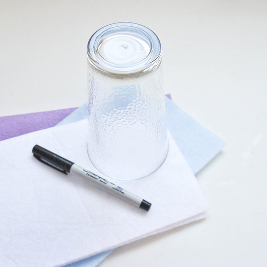 Fold Over Foot Drinking Glass