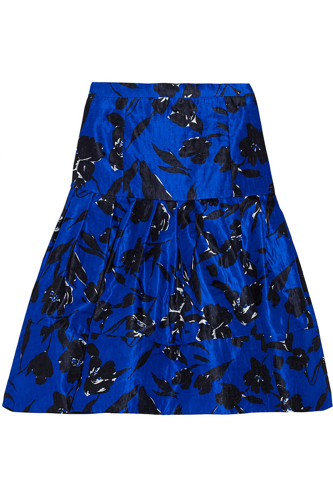 Floral-print silk and cotton-blend skirt ($550)