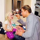 Makeup crisis averted! Derek Hough stepped in as makeup artist for his niece. Source: Instagram user derekhough