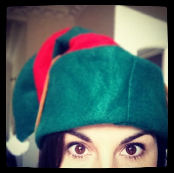 Michelle Dockery ditched her usual lady look to play an elf instead. Source: Instagram user theladydockers