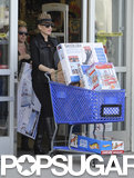 Gwen Stefani carted away plenty of holiday gifts in LA for her sons, Kingston and Zuma, and another baby on the way.
