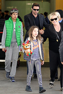 Hugh Jackman & Family Arrive Down Under
