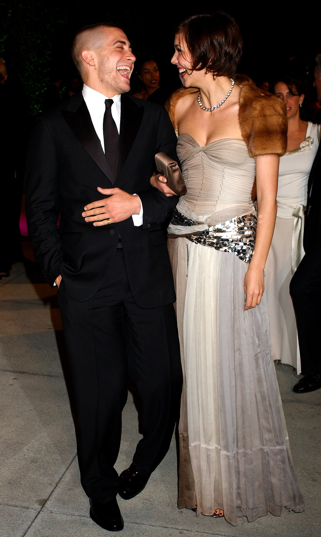 Jake and his sister Maggie Gyllenhaal were in stitches at the 2005 Vanity Fair Oscars par
