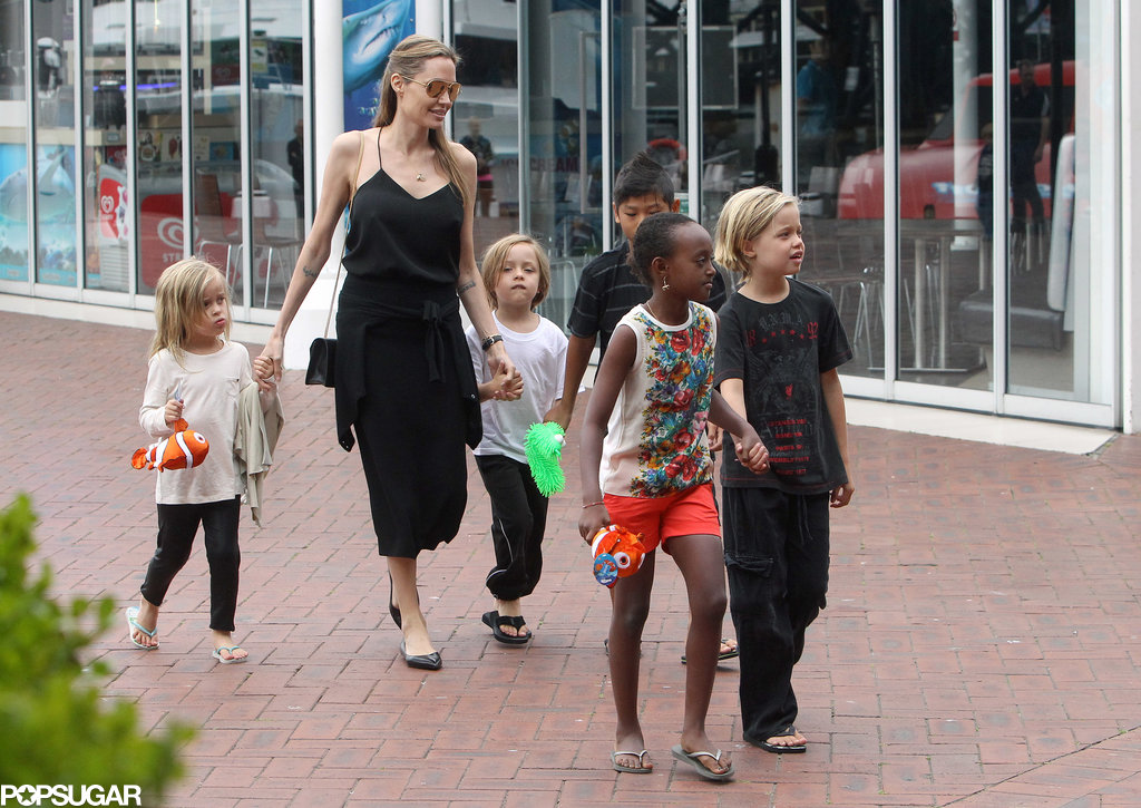 Angelina Jolie took her kids to the Sydney aquarium in September.