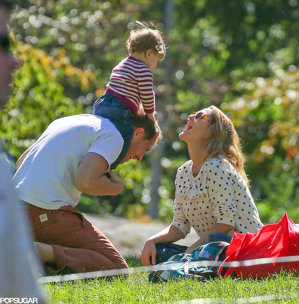 In September, Drew Barrymore and Will Kopelman brought their daughter, Olive, to Central Park in NYC.