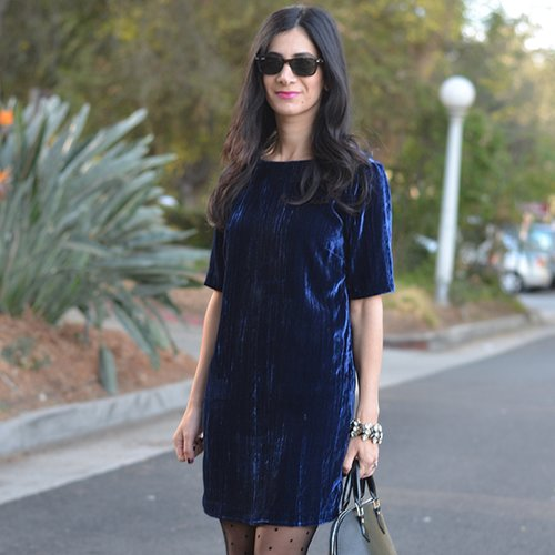A Velvet Look We're Crushing On This Holiday