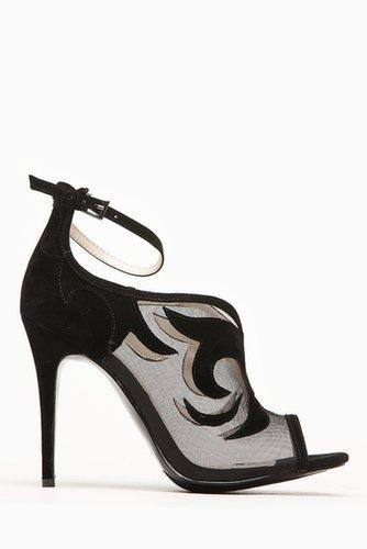 Anne Michelle Classic Black Mesh Peep Toe Heel @ Cicihot Heel Shoes online store sales:Stiletto Heel Shoes,High Heel Pumps,Women