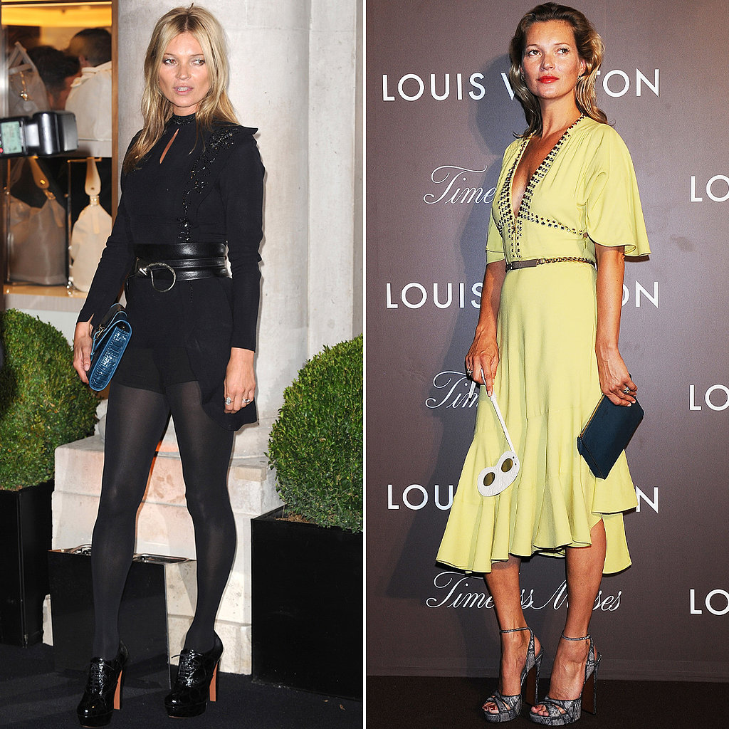 Signature Style: Vintage Rock Chick Favourite Designers: Kate's too cool to show too much loyalty. Plus, she loves a bit of vintage. 2013 Fashion Highlight: A lemon/lime Louis Vuitton dress with a '30s feel and fluted hem, teamed with snakeskin sandals for a Louis Vuitton event (right).