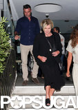 Liev Schreiber and Deborra-Lee Furness exited a restaurant together.