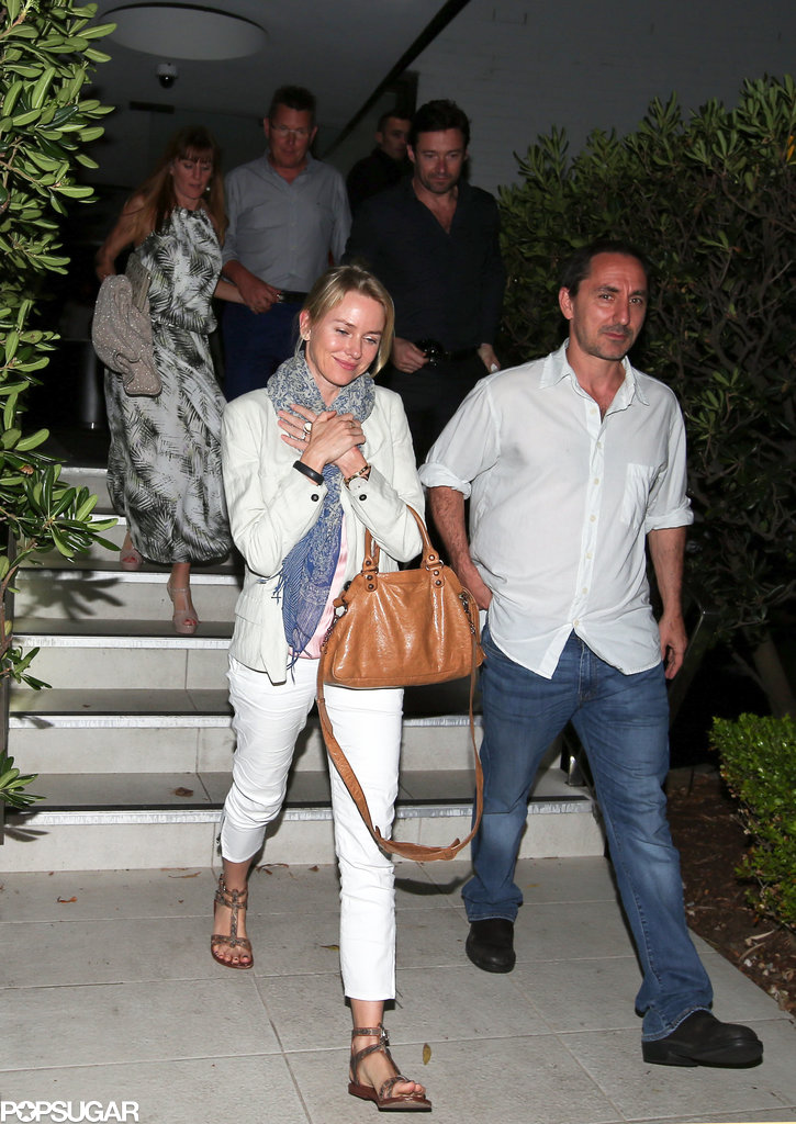 Naomi Watts and Hugh Jackman finished a double date night.