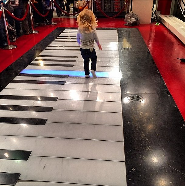 Willow Hart channeled her inner Tom Hanks playing on FAO Schwarz's big piano. Source: Instagram user hartluck