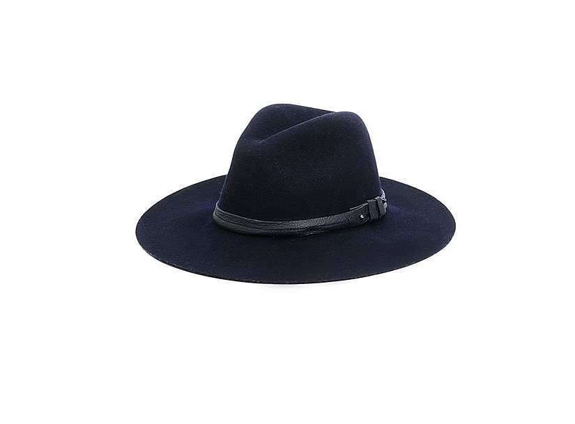 The fedora is a perfectly tailored and eternally effortless staple in our closets. This classic Rag & Bone style ($175) has been revamped with an extrawide brim. Style it with a little black dress to capture a masculine-meets-feminine feel. — MC
