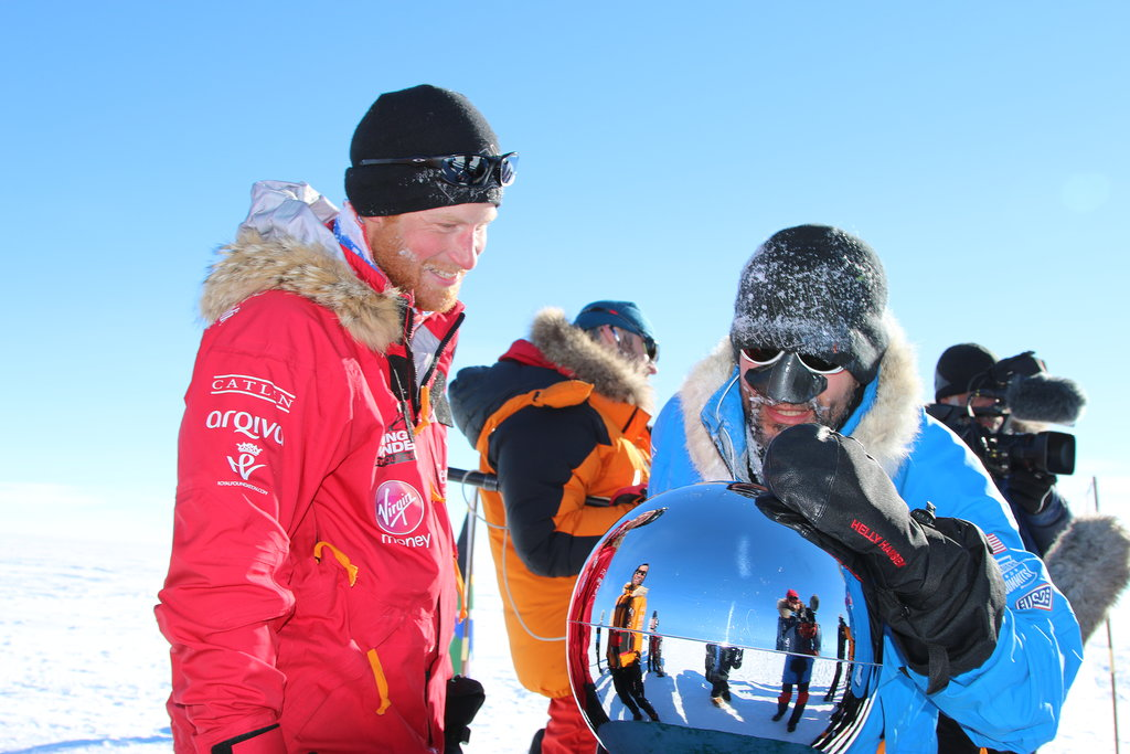 Prince Harry's South Pole Arrival