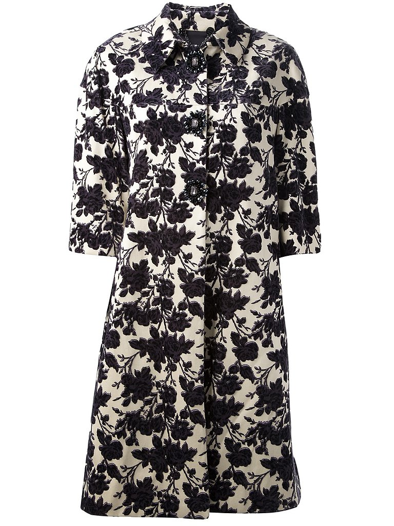 Tory Burch Floral-Print Coat ($866, originally $1,083)