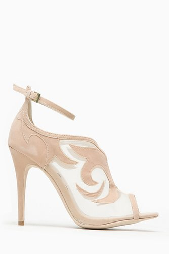 Anne Michelle Classic Nude Mesh Peep Toe Heel @ Cicihot Heel Shoes online store sales:Stiletto Heel Shoes,High Heel Pumps,Womens