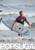 Liev Schreiber later hit the waves himself.