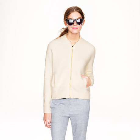 J.Crew Wool Bomber Sweater Jacket ($148)