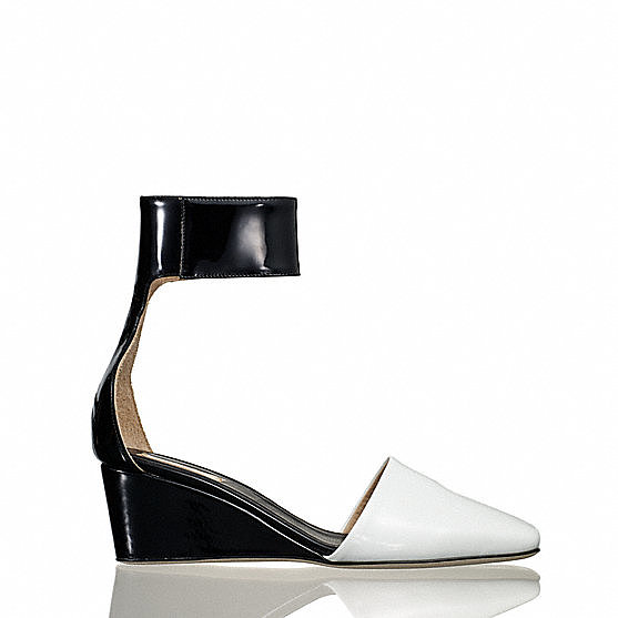 Reed Krakoff Sabot Ankle Wrap Wedge ($495)