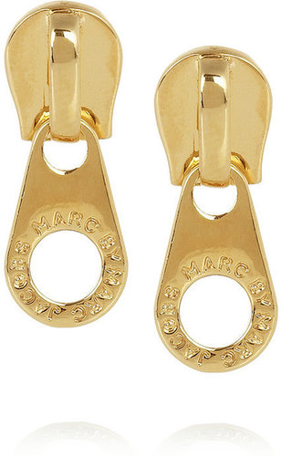 Marc by Marc Jacobs Zip It gold-tone earrings