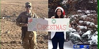 Husband In Afghanistan, Wife In U.S., Create Amazing Christmas Card 7,000 Miles Apart