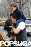 Orlando Bloom hailed a cab after the stroll.