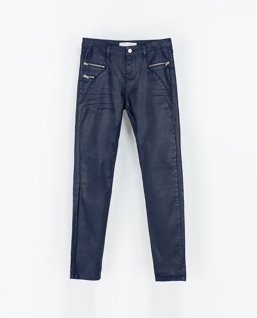 Zara Coated Trousers With Zips ($50, originally $80)