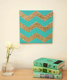 Glitter Chevron Wall Art
