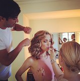Having a glam squad is a necessity when you are going to walk the Emmys red carpet, and Rose Byrne's crew this year included hairstylist Harry Josh who styled her hair into classic waves.  Source: Instagram user instylemagazine