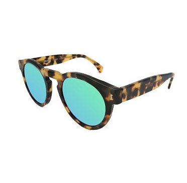 Illesteva Leonard Tortoise Sunglasses in Green ($177)