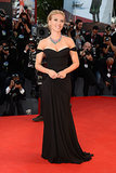 5. Scarlett Johansson in Versace at the Venice Film Festival