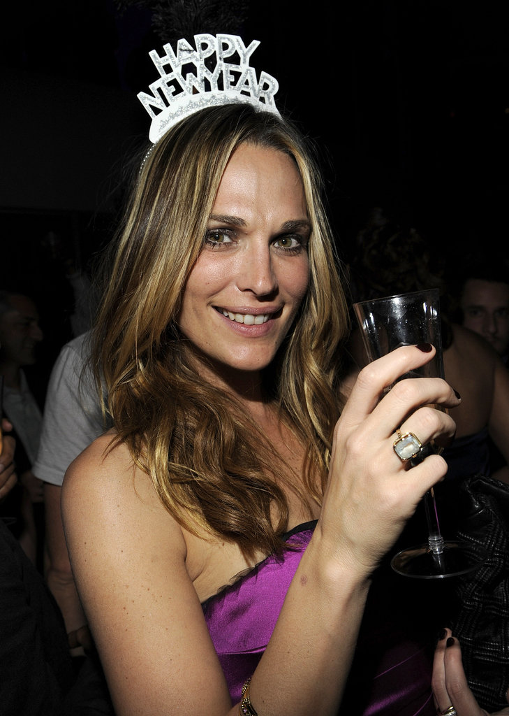 Molly Sims rang in the New Year at the Fontainebleau Hotel in Miami, FL, back in 2009.