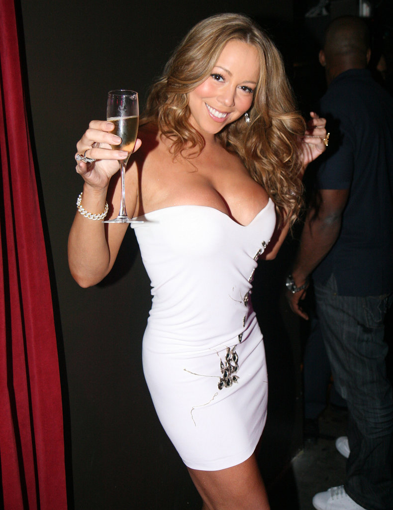 Mariah Carey flaunted her curves — along with a bottle of bubbly — at a 2008 New Year's Eve party at Tao Las Vegas.