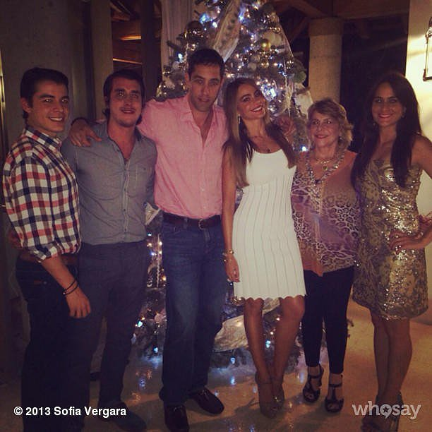 Sofia Vergara celebrated Christmas Eve with her family. Source: Instagram user sofiavergara