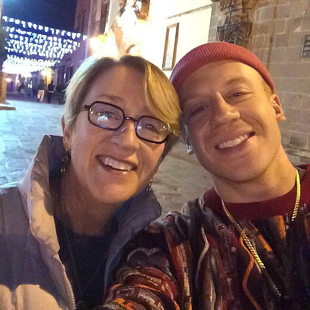 Macklemore snapped a selfie with his mom while in Mexico. Source: Instagram user macklemore