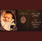 Josh Duhamel shared baby Axl's first Christmas card. Source: Instagram user JoshDuhamel