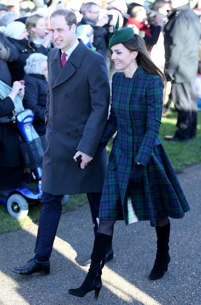 Kate Middleton and Prince William attended Christmas Day services in the UK.