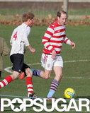 Prince William played soccer against Prince Harry over the Christmas holiday.