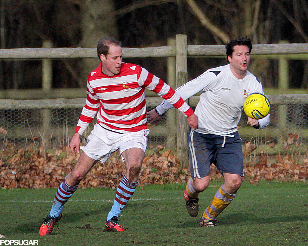 Prince William enjoyed his holiday break with a soccer game.