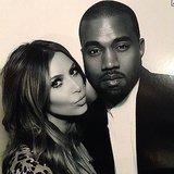 Kim Kardashian shared a cute photo with Kanye West. Source: Instagram user kimkardashian