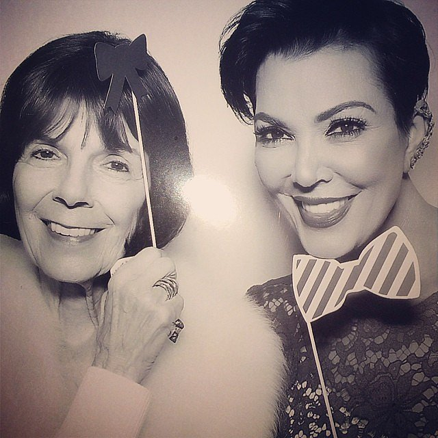 Kris Jenner took a picture with her mother on Christmas Eve. Source: Instagram user krisjenner