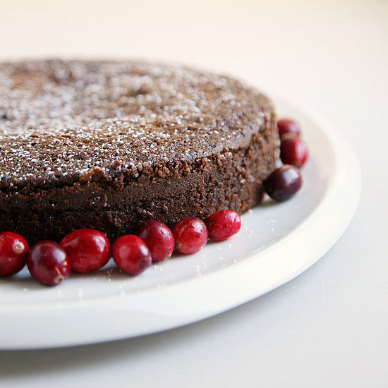 Cranberry-Swirled Gingerbread Cake