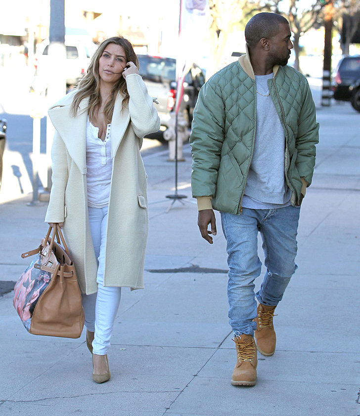 Kim Kardashian 39 S Painted Birkin From Kanye West Pictures Popsugar Fashion
