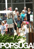 The whole Jolie-Pitt clan walked through the zoo.