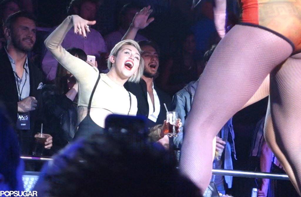 Miley Cyrus channeled Britney's energy throughout the concert.