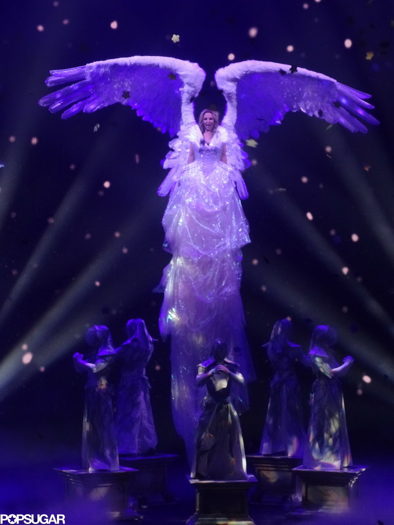 "Britney Spears took flight during her performance of ""Everytime."""