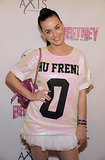 "Katy Perry wore a shirt that read ""Nu Frend."""