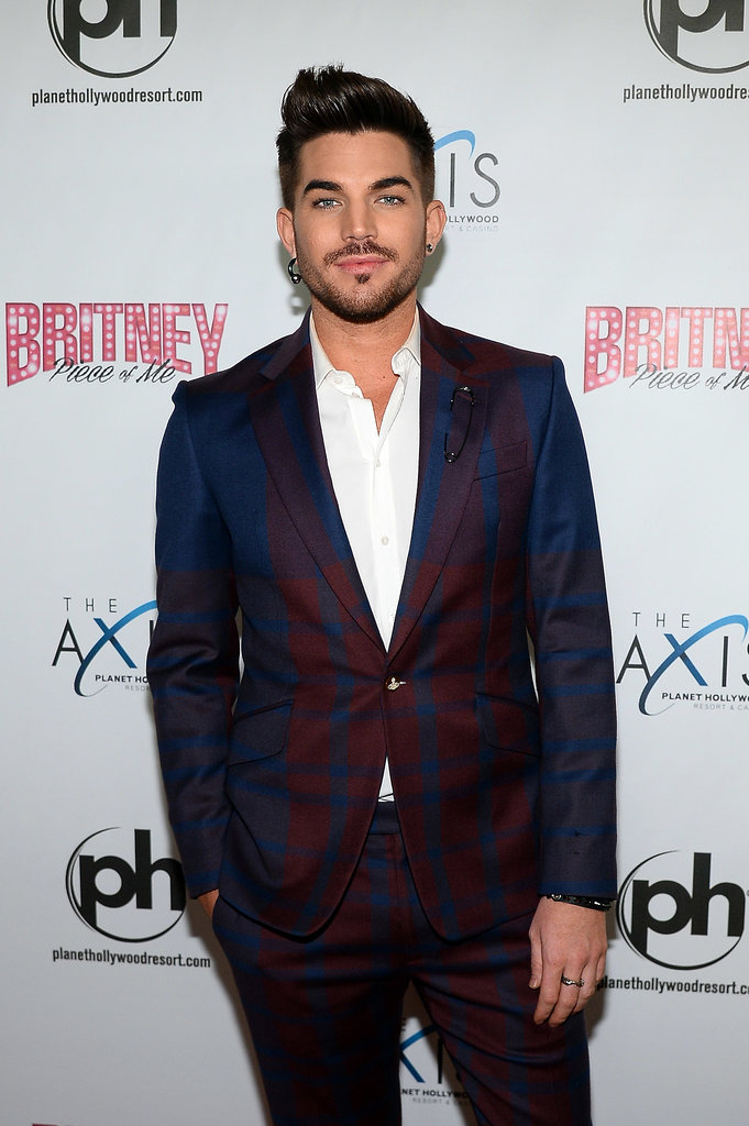 Adam Lambert looked dapper in a plaid suit.