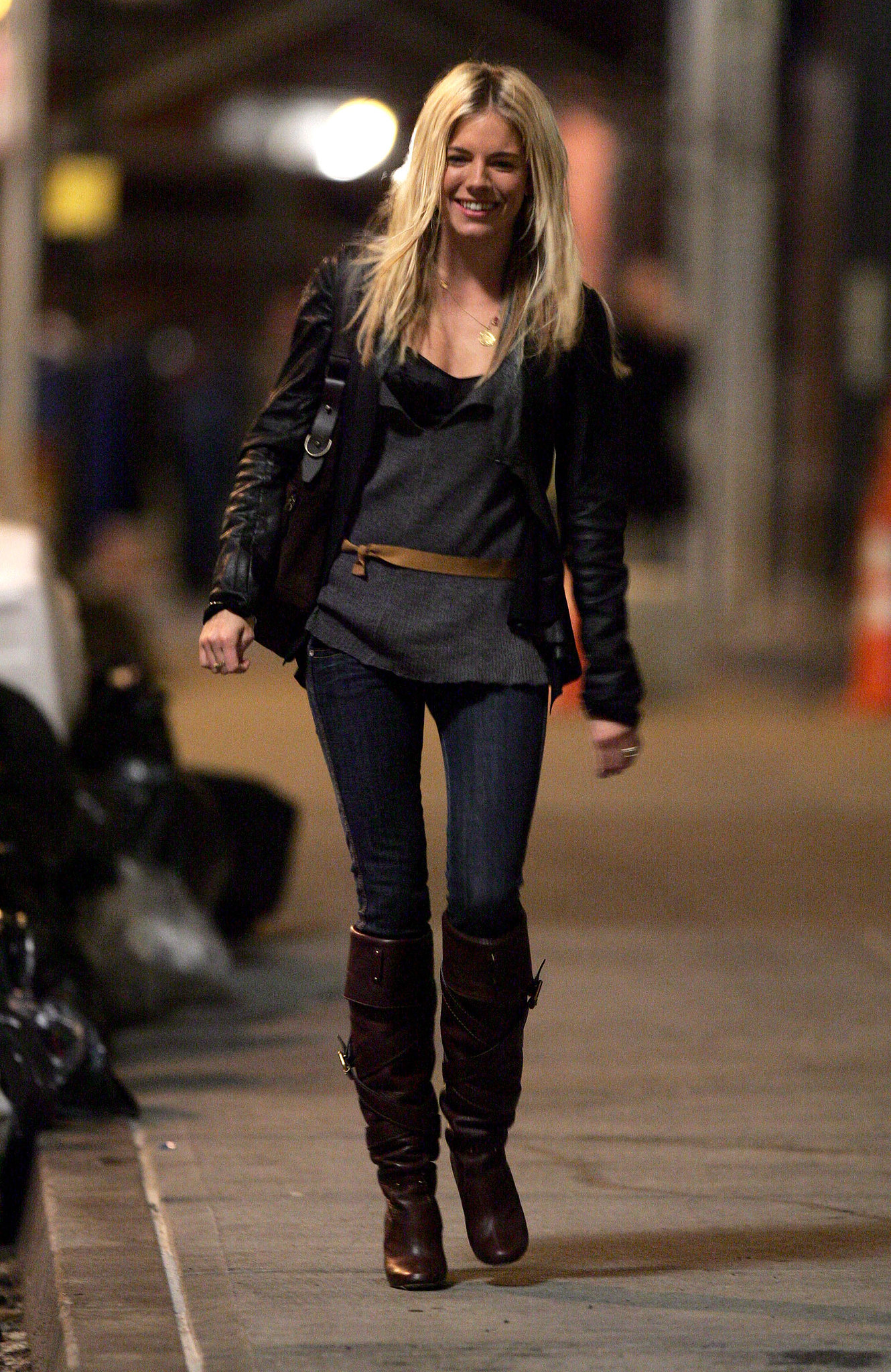 The British beauty looked city-girl cool in leather in 2006.