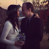 Vanessa Carlton embraced her new husband, John McCauley, after they exchanged vows.  Source: Twitter user VanessaCarlton