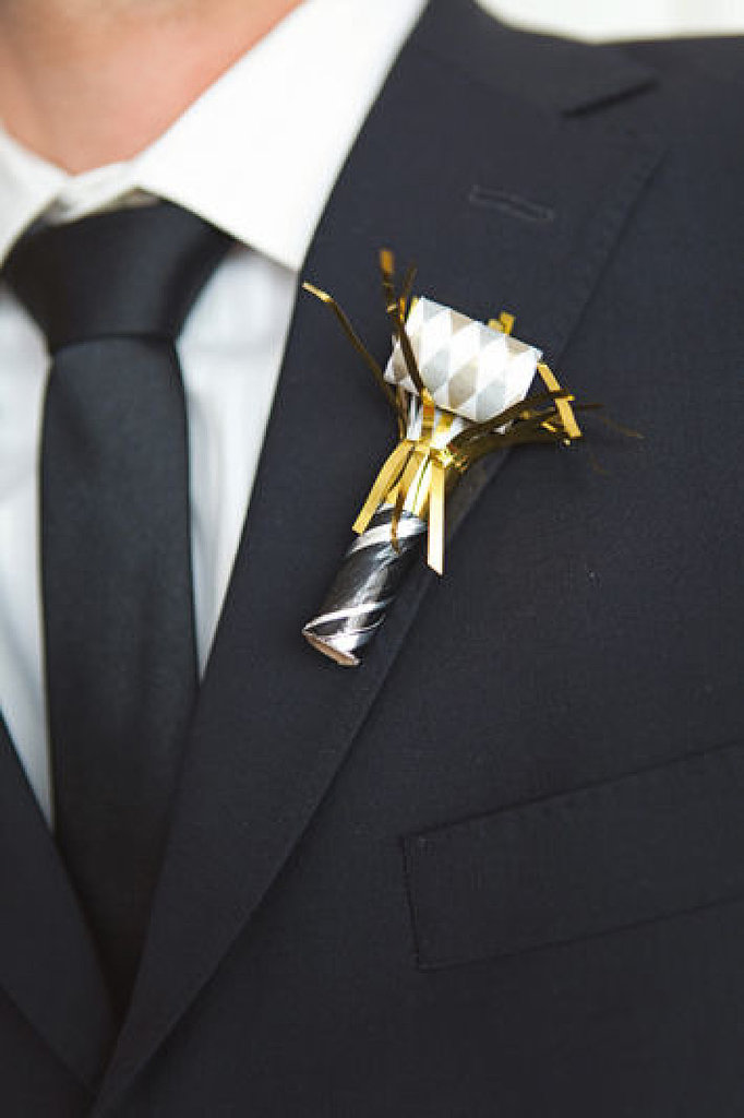 Or even use them as boutonnieres with some metallic accents. Photo by Scott Lawrence Photography via Style Me Pretty